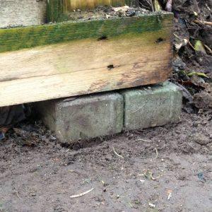 Fundament des Eigenbau-Komposters